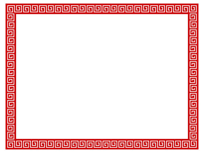 雷紋のフレーム・枠のイラスト