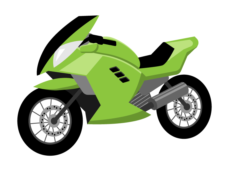 スポーツタイプのバイクのイラスト