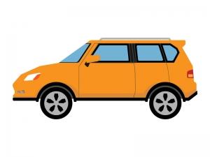 SUV車のイラスト
