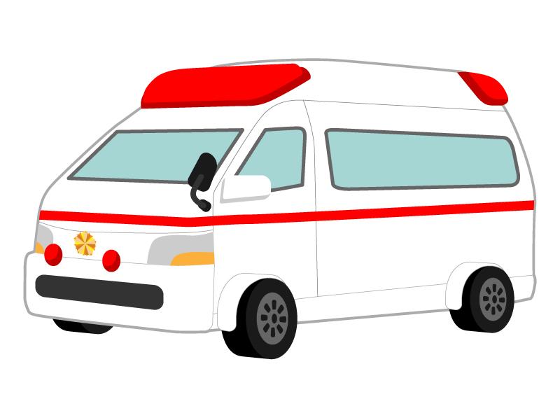 医療・救急車のイラスト