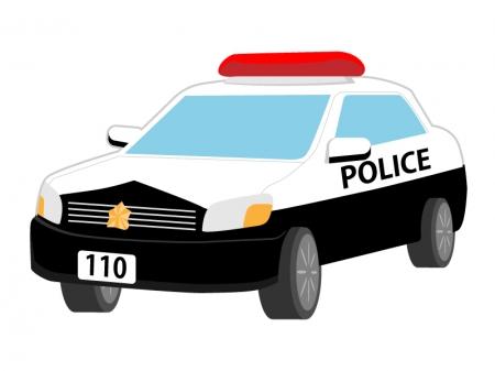 警察・パトカーのイラスト