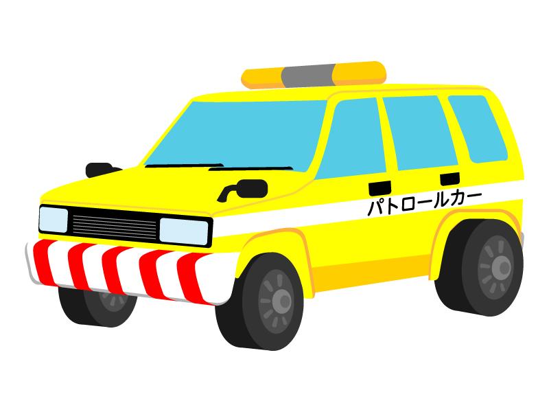 高速道路パトロールカーのイラスト