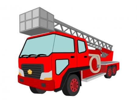 消防車・はしご車のイラスト