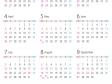 A4縦・2020年(令和2年)1月~12月の年間カレンダー02