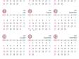 4月始まりの2020年4月~2021年3月の年間カレンダー