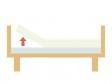 ベッドのギャッチアップのイラスト