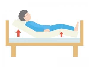 ベッドのギャッチアップ(人物あり)のイラスト02