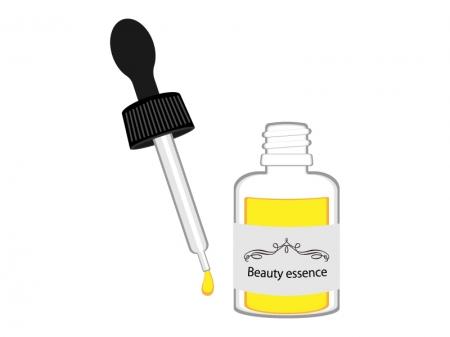 スポイトタイプの美容液のイラスト