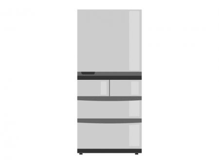 家庭用の大型冷蔵庫のイラスト