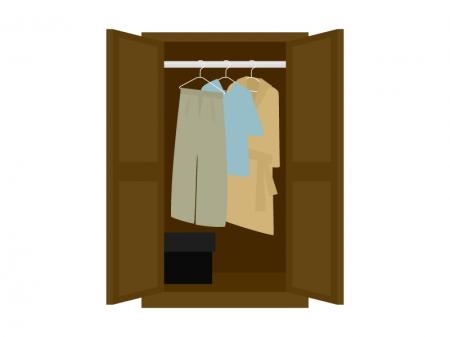 クローゼットと洋服のイラスト