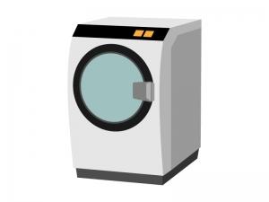 ドラム式の洗濯機のイラスト