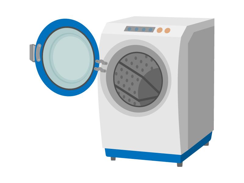 家電・ドラム式の洗濯機のイラスト