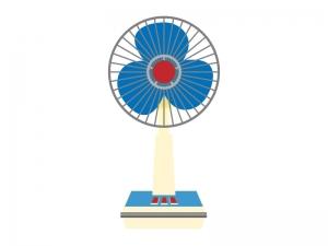 レトロな扇風機のイラスト