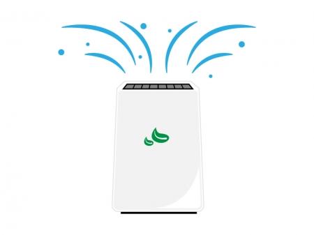 家電・空気清浄機のイラスト
