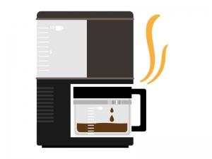 家電・コーヒーメーカーのイラスト