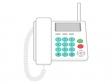 家庭用の電話機のイラスト03