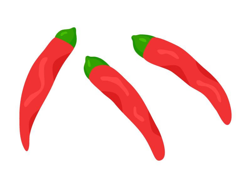 赤唐辛子のイラスト