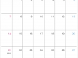 シンプルな2020年(令和2年)6月のカレンダー
