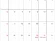 シンプルな2020年(令和2年)7月のカレンダー