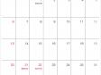シンプルな2020年(令和2年)9月のカレンダー