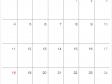 シンプルな2020年(令和2年)10月のカレンダー
