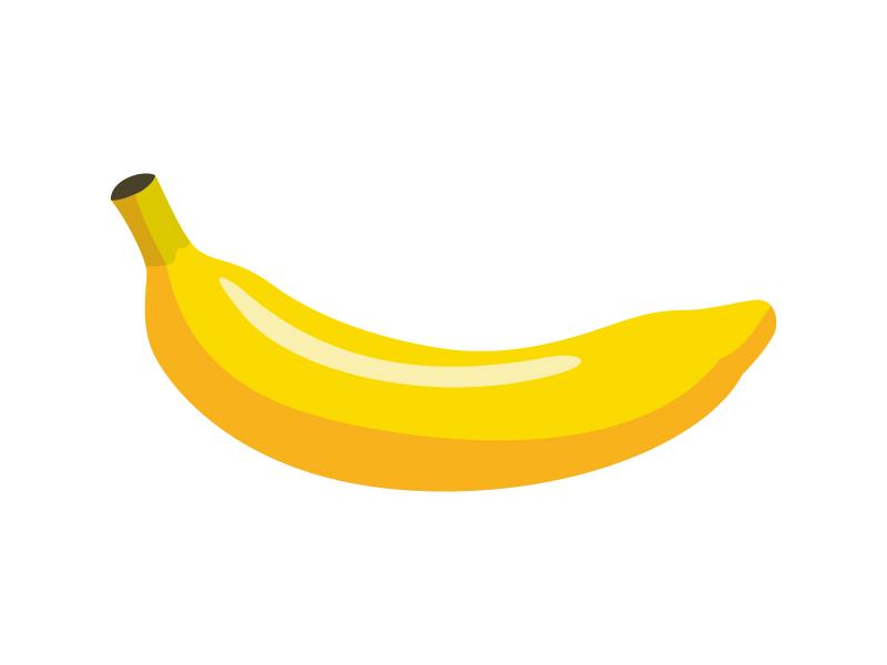 バナナ(一本)のイラスト
