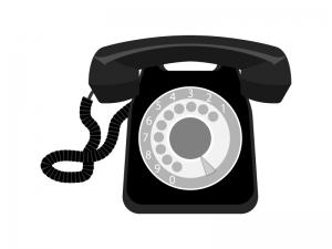 レトロ・黒電話のイラスト