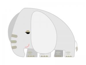 かわいいゾウのイラスト