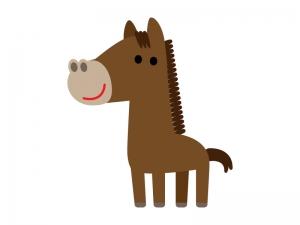 かわいいお馬さんのイラスト