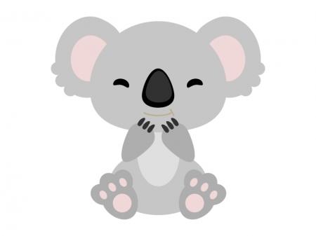かわいらしいコアラのイラスト