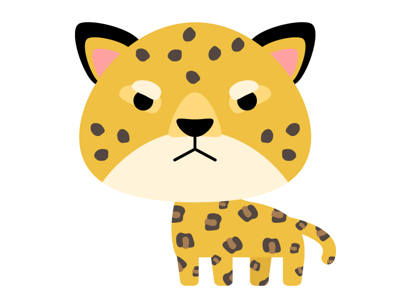 かわいいヒョウ(レオパード)のイラスト