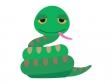かわいいヘビのイラスト