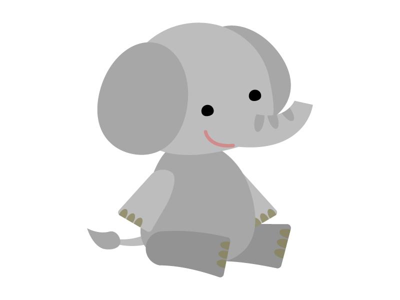 かわいいゾウ(象)のイラスト02