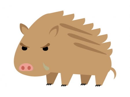 イノシシ(猪)のイラスト