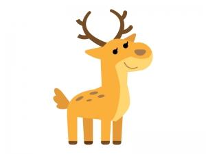 かわいい鹿(シカ)のイラスト