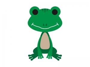 かわいらしいカエルのイラスト