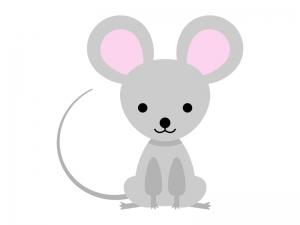 かわいらしいネズミのイラスト