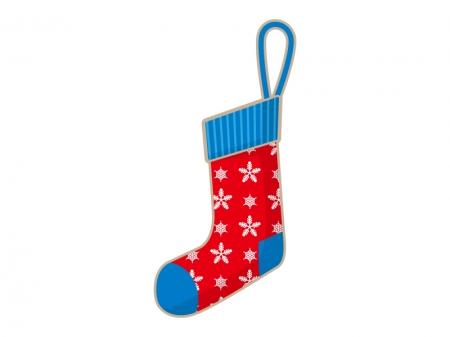 クリスマスの靴下のイラスト