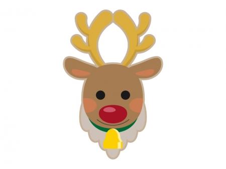 クリスマスのトナカイ(顔)のイラスト