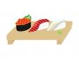 握り寿司三貫のイラスト