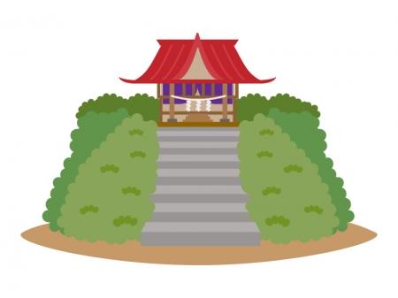 小さな神社のイラスト