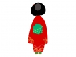着物を着た女性(後ろ姿)のイラスト