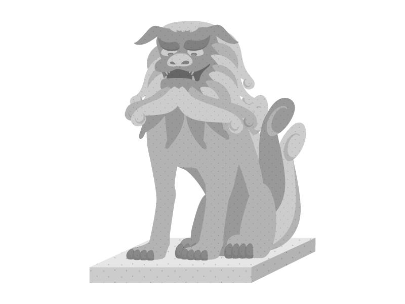 狛犬のイラスト03