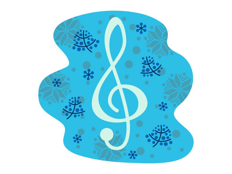 冬をイメージした音楽のイラスト