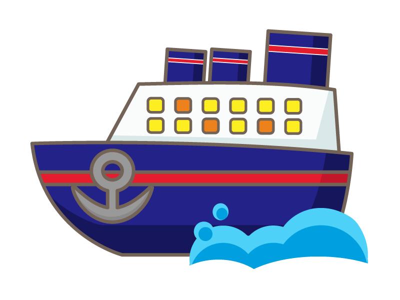 客船のイラスト