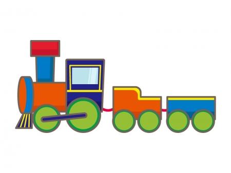 おもちゃの汽車のイラスト