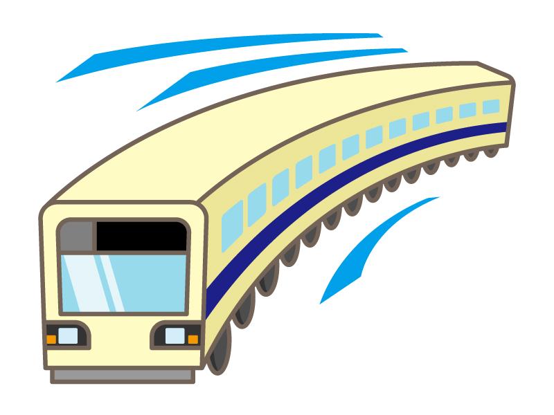 走っている電車のイラスト