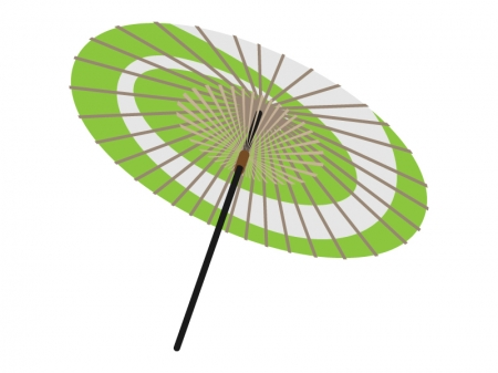 和傘・番傘のイラスト