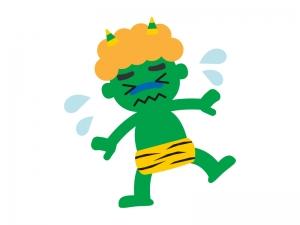 泣いている鬼のイラスト