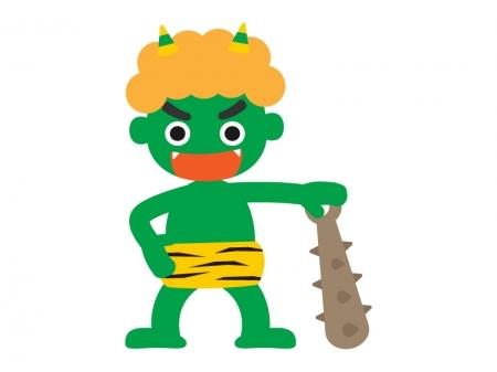 緑色の鬼のイラスト